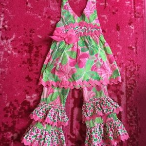 Mud pie floral outfit